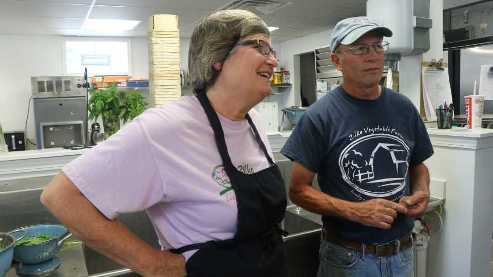 In the kitchen with Tom and Vicki Zilke