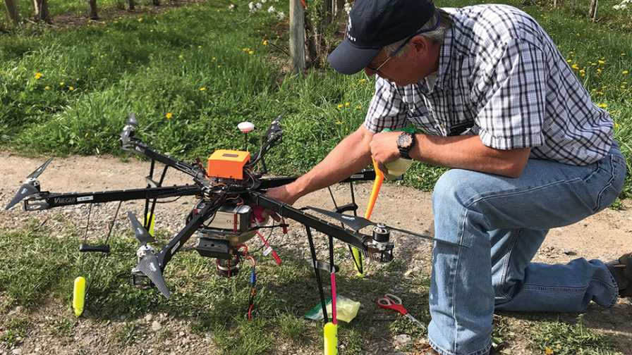 Dropcopter prepped for flight