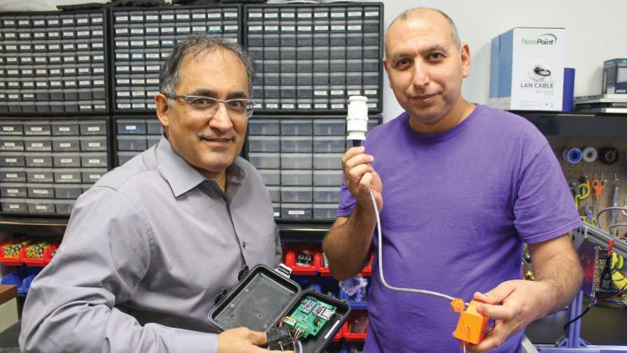 soil moisture sensor tech at Precision ag lab