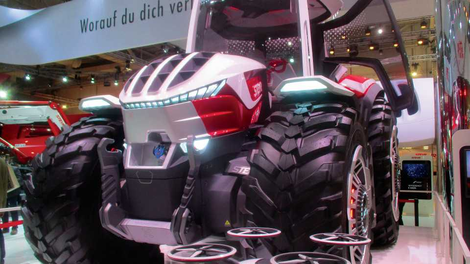 Futuristic tractor at AgriTechnica