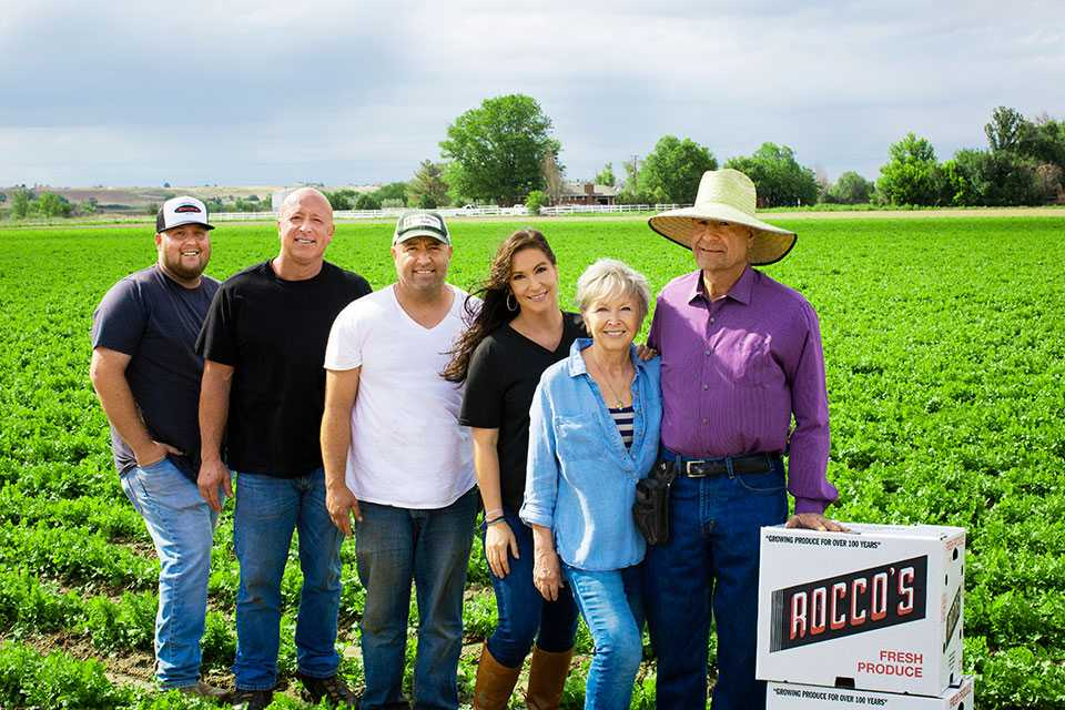 Petrocco Farms family in the field