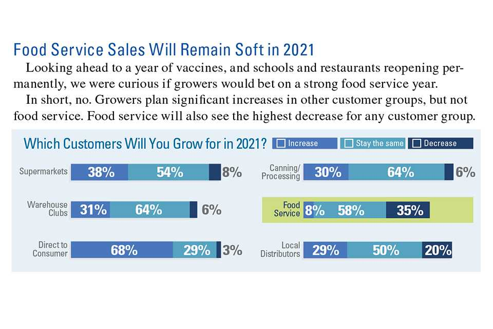 Food service sales in 2021 infographic